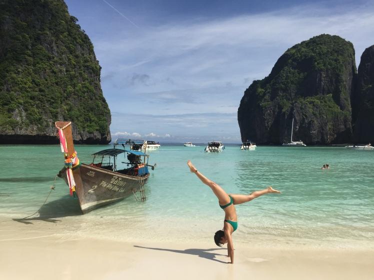 Handstanding in Thailand