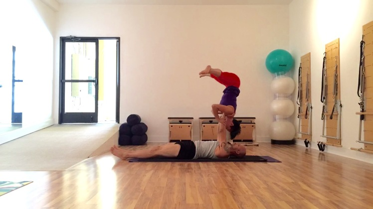 Straddle Shoulderstand
